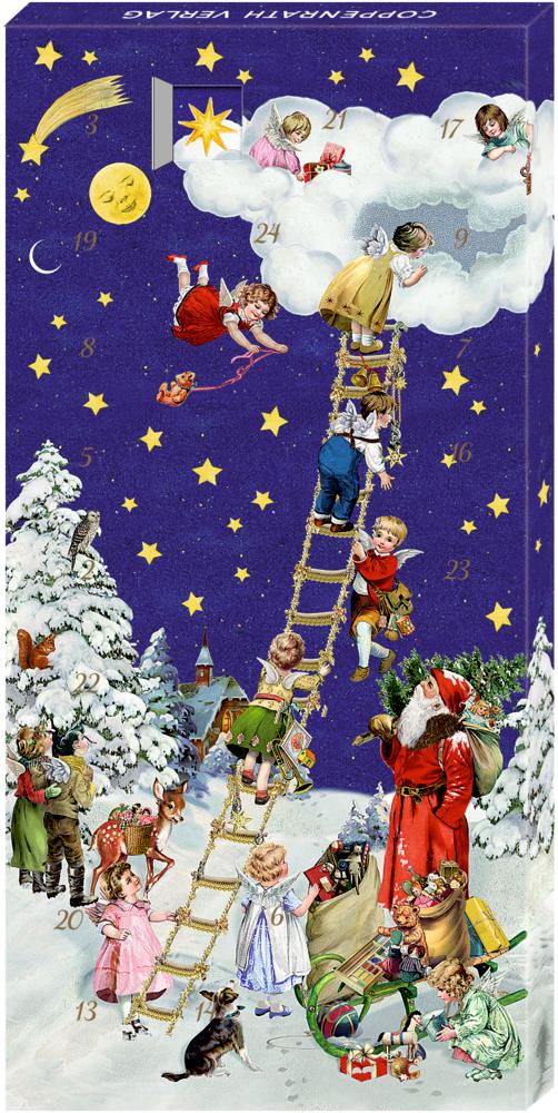 Weihnachtsleiter, Adventskalender-Schokolade (B.Behr)