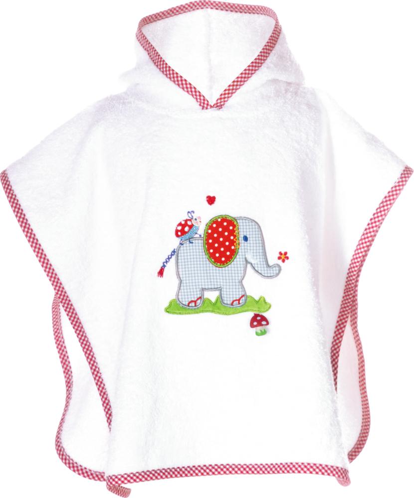 Badeponcho BabyGlück (Elefant), one size (ca. 55x46 cm)