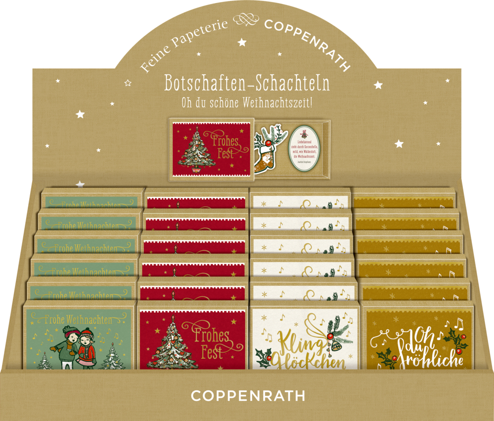 Botschaften-Schachtel: Wunderbare Weihnachtszeit