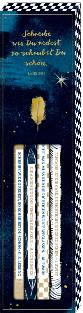 Bleistift-Set mit Sprüchen - BücherLiebe (6 St.)