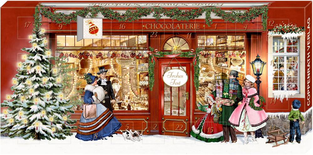Adventskalender-Schokolade - Chocolaterie (B. Behr)
