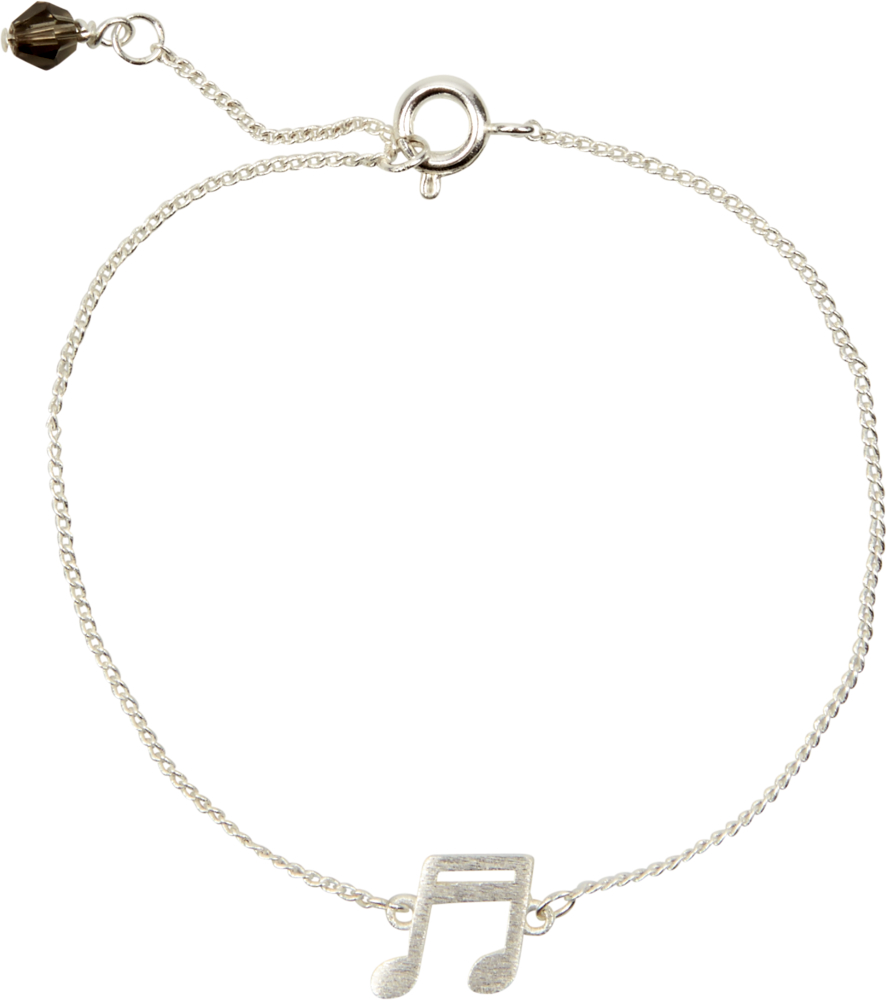 silbernes Armband All about music (Note)