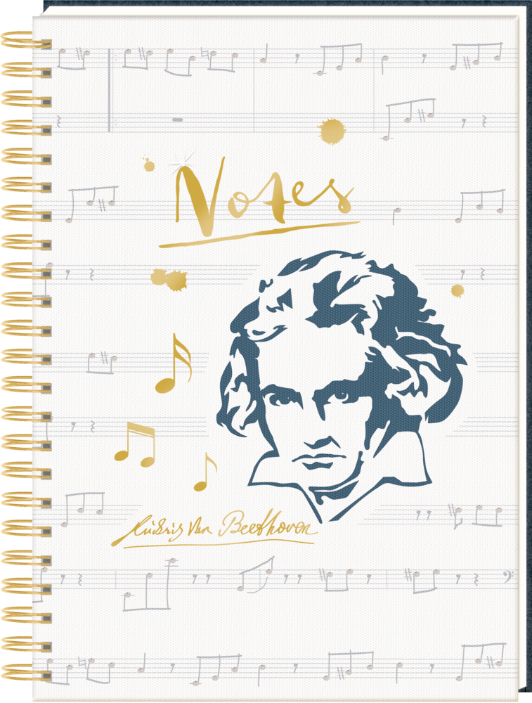 """Ringbuch DIN A4 """"Notes"""" Edition Beethoven (All about music)"""