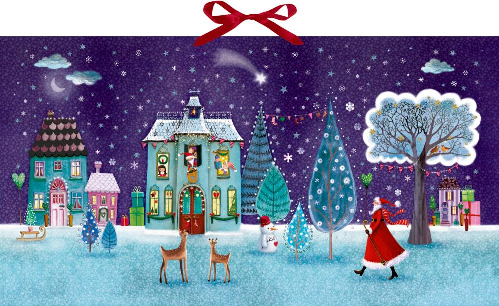 Zauberhafte Weihnachtszeit, Wand-Adventskalender
