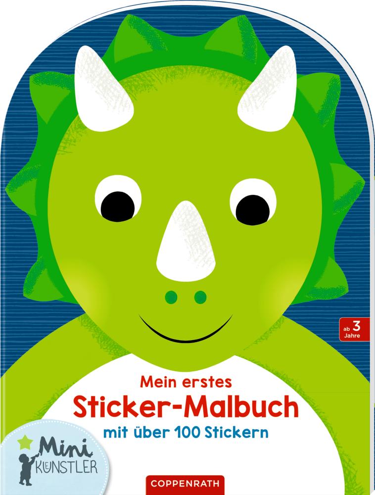Mein erstes Sticker-Malbuch: Dinosaurier (Mini-Künstler)