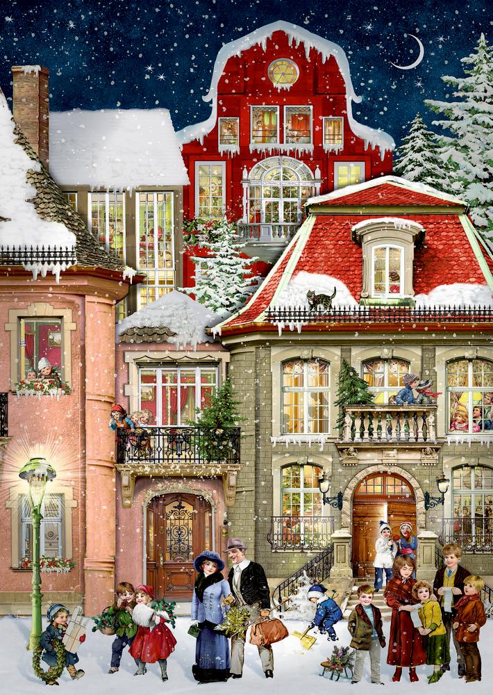 In der Weihnachtsgasse, Wand-Adventskal. A4 (Behr)